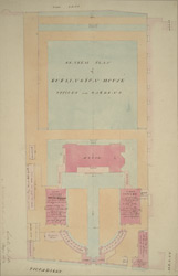 General plan of the Burlington House, offices and garden